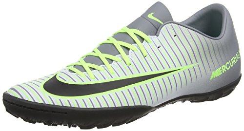 Nike Mercurialx Victory Vi Tf, Scarpe da Calcio Uomo, Argento (Pure Platinum/Black-Ghost Green), 42 EU