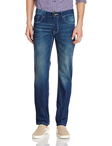 Diverse Men's Relaxed Fit Jeans (DVD02D1L01-2c_Indigo Blue_34W x 32L)