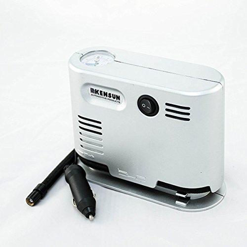Kensun Portable Travel High Pressure Air Compressor/Inflator (High Pressure Air Compressor, Silver) by Kensun