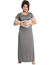 Fabme Women's Maternity Night Dress