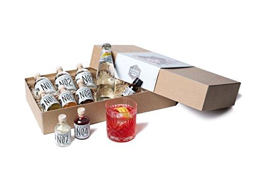 Gin Cocktail Geschenk-Set für 6 feine Gin Tonic und Gin Sour Variationen | Probier-Set mit SIPSMITH London Dry Gin aus London