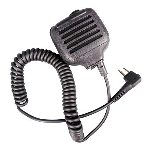 Demino Schwarz KMC-17M PTT-Lautsprecher MIC-Radio Ersatz für GP3688 GP88 GP300 GP2000 CT150 P040 Mag One A8 HYT TC500 - Ersatz-arm-antrieb