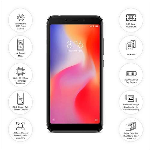 [Get Discount ] Redmi 6A (Black, 2GB RAM, 16GB Storage) 41LGqXEAMRL