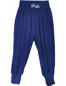 PACINO Mädchen Legging m. Bund u . Stick., blau