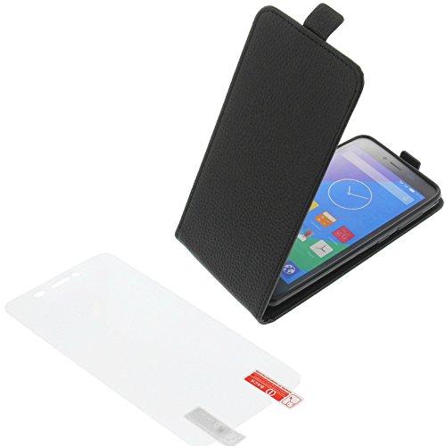 foto-kontor Tasche für Phicomm Energy L Smartphone Flipstyle Schutz Hülle schwarz + Schutzfolie