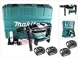 Makita DHR 400 T2U 2 x 18 V / 36 V Li-Ion Akku Bohrhammer Kombihammer SDS-Max im Koffer + 2 x 5,0 Ah Akku - ohne Ladegerät