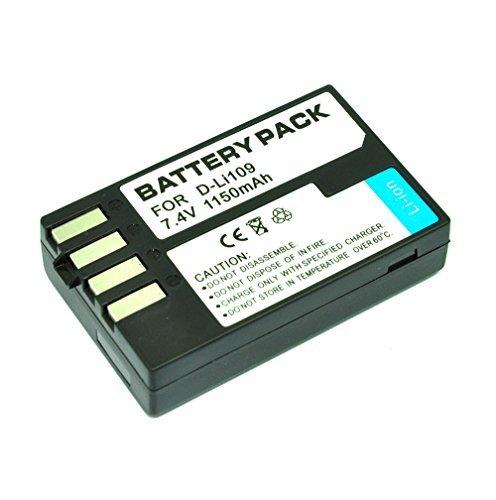 MP power ® 1 x Batterie de Remplacement 1150 mAh D-Li109 Dli109 pour Pentax K2 K30 K500 k50 K-30, K-50, K-500, K-r, K-S1 Kr KS1
