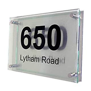 Acrylic Master House number sign (11