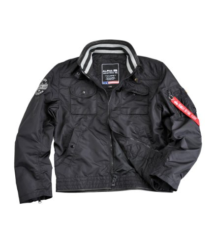Alpha Industries MC Club Jacket Übergangsjacke Bla Black