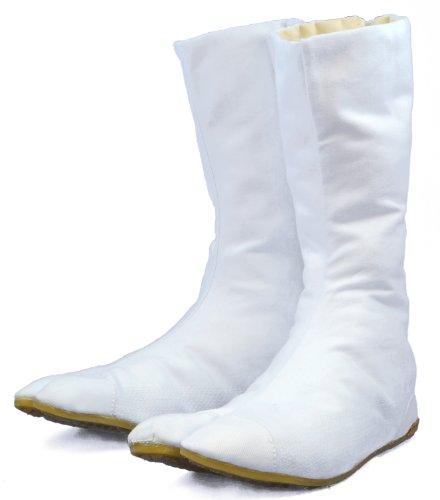 Chaussures de Ninja Blanche Bottes Tabi Japonaise Authentique (JP 24 approx. FR 38 EU 38 UK 5)