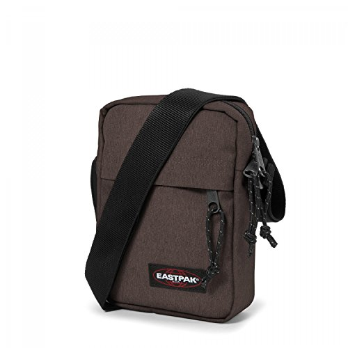 Eastpak The One Borsa a Tracolla, 2.5 Litri, Grigio (Black Denim) Marrone (Crafty Brown)