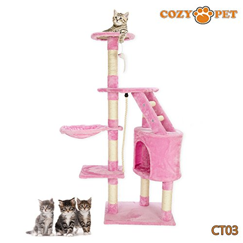 cozy-pet-deluxe-multi-level-cat-tree-scratcher-activity-centre-scratching-post-toys-with-heavy-duty-