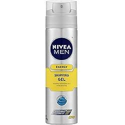 NIVEA FOR MEN Energy, Shaving Gel 7 oz (Pack of 2)