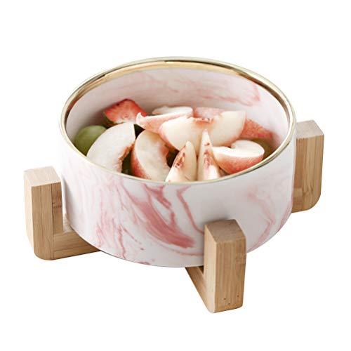 BESTONZON Schüssel Keramik Behälter Dessert Marmorieren Obst Salat Servierrahmen Geschirr Restaurant Home
