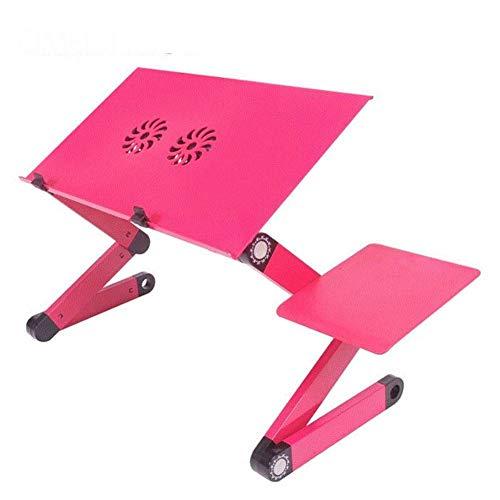Rart Tragbare ergonomische Laptop Cooling Stand, Faltbare Sofa notebookständer Laptop-Bett-Tisch mit Maus-plattform - geeignet für Bett,Sofa,Schreibtisch,Fußmatten,Wiese-Rosa 48x27cm(19x11inch) - Laptop Cooling-plattform