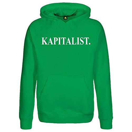 absenda Kapitalist Kapuzenpullover | Bank | Geld | Börse | Aktien | Ausbeuter | DAX Grün M