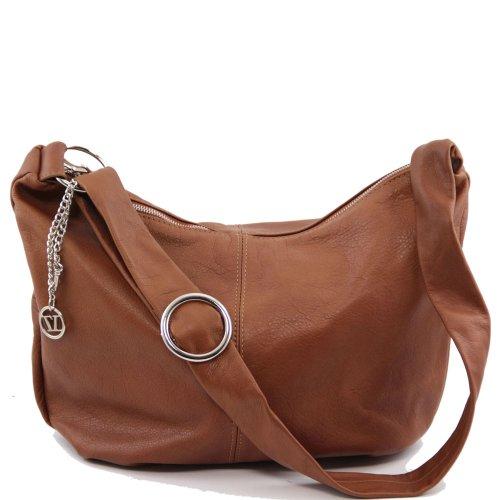 Tuscany Leather - Sac porté épaule cuir - Cognac