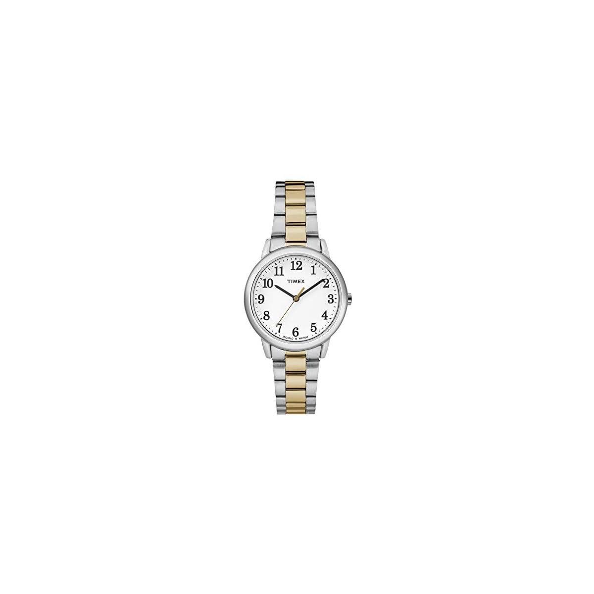 41LGtpcv0QL. SS1200  - Timex Reloj Analógico para Mujer de Cuarzo con Correa en Acero Inoxidable TW2R23900