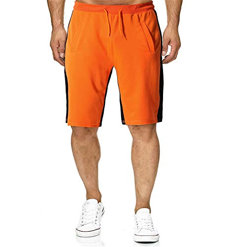 GIRLXV Cottonpants for Sports Freizeithose Mit Elastischer Verstellbarer Kordel Für Den Strandurlaub Tropical Travel Pants Orange Medium Arizona Boys Jean