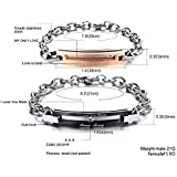 Titanium Steel Fashion Lover is best Shining Diamond Adjustable Couple Bracelet Set as Gift For Male and Female cb5