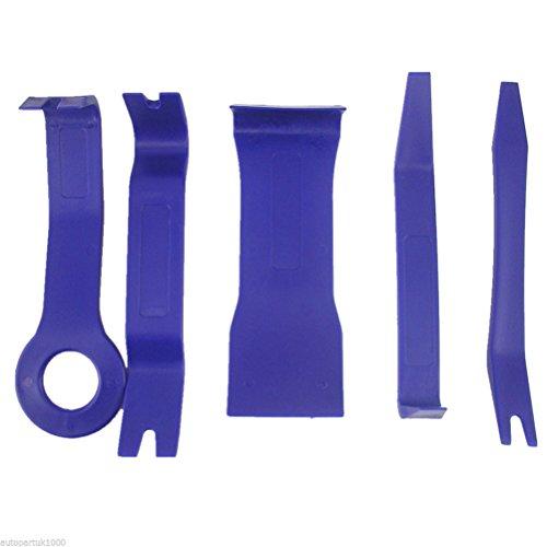 vorcool 5x Automatische Trim entfernen Tool Kit Verschluss Entferner Pry Bar Kelle Set Auto Body Repair Tools Tür zierleisten Dash Panel Tire entfernen (blau)
