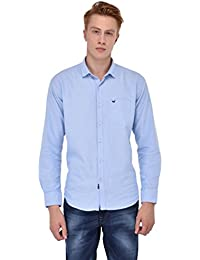 Sting Aqua Blue Solid Full Sleeve Casual Shirt