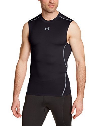 Under Armour UA Hg SL Canottiera, Nero (Nero), M
