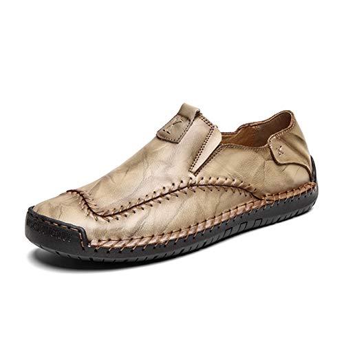 Scarpe Casual da Uomo Mocassini in Pelle Loafers Casuale Guida Moda Mocassino Basse Classic Scarpe da Cuoio Barca Oxford