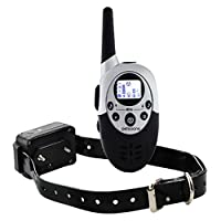 Petsoone Rechargeable Étanche Chien Collier de Dressage Gamme Pet Télécommande Anti Aboiement Choc + Vibra + Électrique