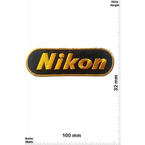 Patch - Nikon - black / gold - Mix Patch - Brands - Chaleco - toppa - applicazione - Ricamato termo-adesivo - Give
