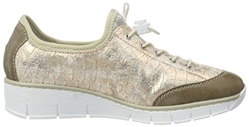 Rieker 53768, Sneakers Basses Femme Multicolore (Steel/Rose/silverflower / 42)