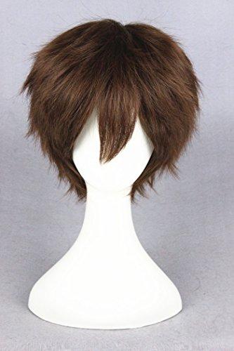 30cm braun Farbverlauf Kurz Gerade Cosplay Perücken für Cartoon/Halloween und Frau/Lady/Girl 's Tägliche Fashion (Kurze Braun Kostüm Perücke)