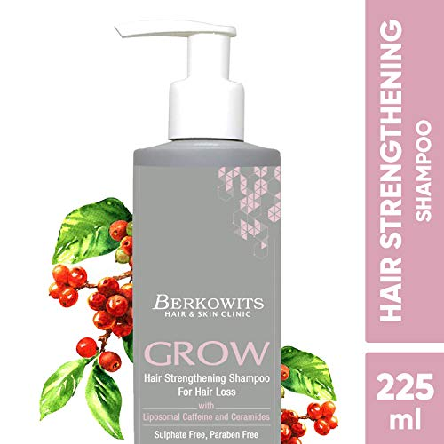 Berkowits Biotin Hair Strengthening Shampoo for Hair Loss - Sulphate & Paraben Free 225ml