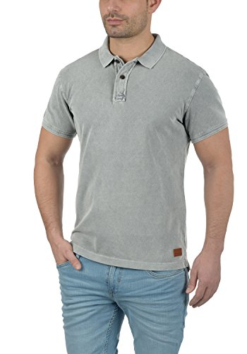 Blend Camp Herren Poloshirt Kurzarm Shirt mit Polokragen Aus 100% Baumwolle Meliert Granite (70147)