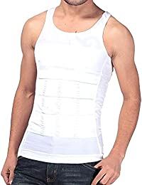 Rapid Men's Slim Lift Innerwear Slim Look Tummy Tucker Body Shaper Undershirt White Vest
