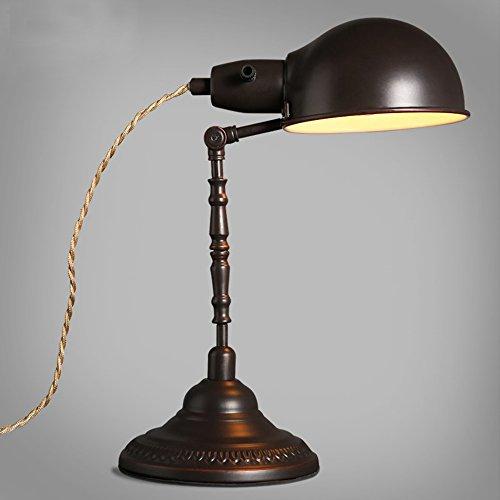 Industrielle Retro Schreibtischlampe Alte Schmiedeeisen Tischlampe  Einstellbare Arbeiten Lesen Leselampe Konferenzraum Schlafzimmer Wohnzimmer  Büro Hotel ...