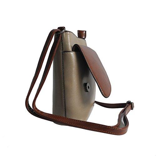 Bella Belly–Kleine molto elegante, semplice–bella borsa da donna borsa a mano borsa a tracolla borsa graziosa Clutch in diversi stili Colori–präsentiert von ZMOKA®, argilla (grigio) - 0 argilla