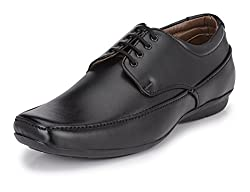 John Karsun Mens Black Derby Shoes - 9 UK
