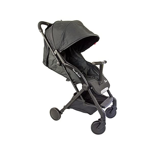 Familidoo Air Pushchair, Black  Multi position adjustable backrest recline Detachable handle bar/bumper Suitable from birth 1