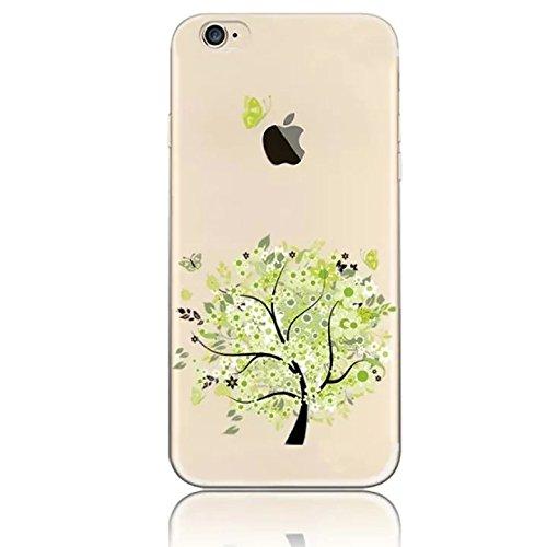 Sunroyal® Creative 3D Custodia per iPhone 4 4G 4S, Trasparente Chiaro Case Cover Morbido in Silicone Gel e TPU Smartphone Accessori di Protettiva Cassa Caso in Premio Poliuretano Gel Gomma Antigraffio Fiore08