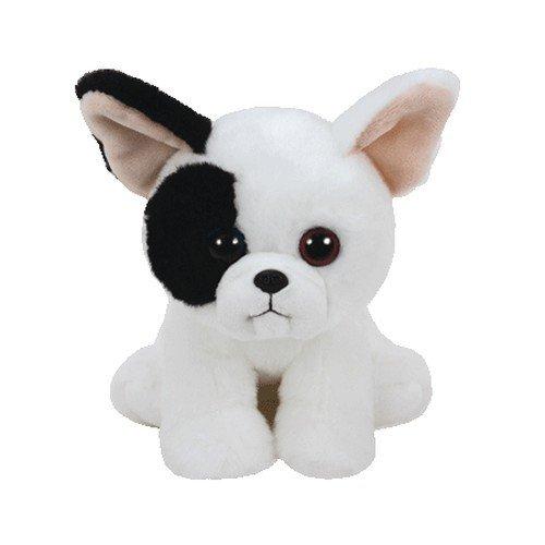 Mini peluche (15cm) de cachorro de bulldog blanco
