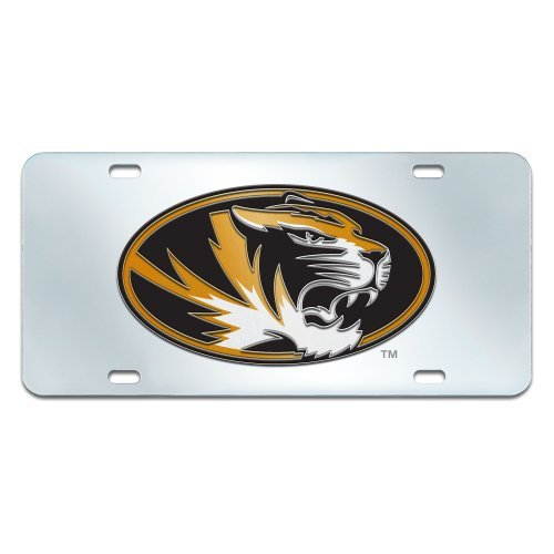 FANMATS NCAA University of Missouri Tigers Plastic License Plate (Inlaid) by Fanmats