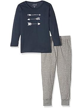 NAME IT Baby-Jungen Zweiteiliger Schlafanzug Nmmnightset Grey Mel Noos