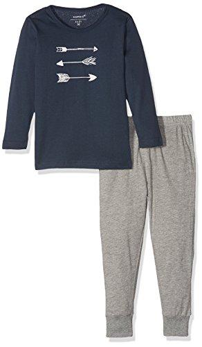 NAME IT Baby-Jungen Zweiteiliger Schlafanzug NMMNIGHTSET Grey Mel NOOS Mehrfarbig Melange, 86