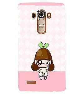 PRINTVISA Cute Cartoon Girl Case Cover for LG G4