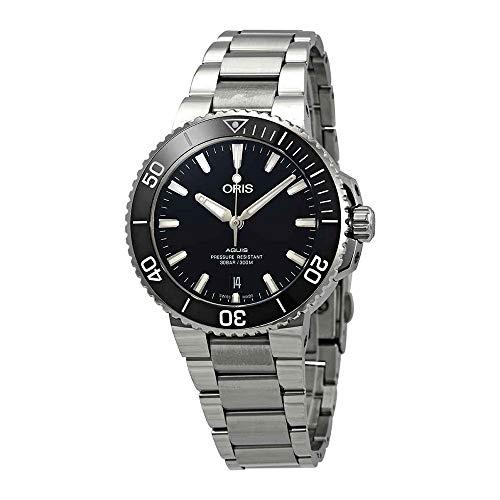 Oris Aquis automatico nero quadrante mens orologio in acciaio INOX 0173377324134–0782105PEB