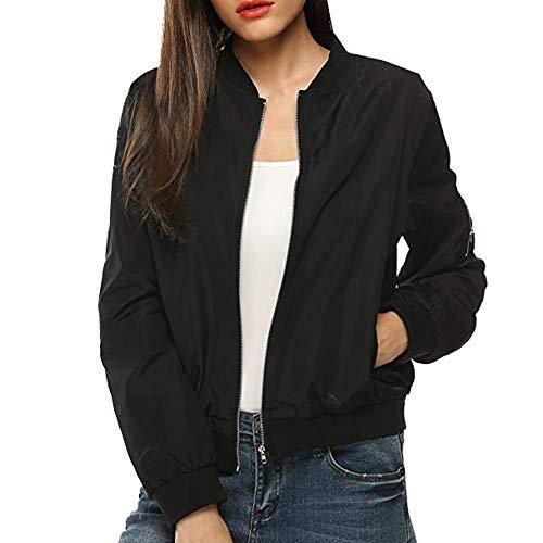 Longzjhd Damen Herbst Winter Warm Militär Bomberjacke Patches Light Jacket Coat Parka Slim Jacken Sweatshirt Outdoor Sportswear Bomber...
