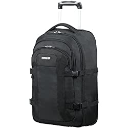 "AMERICAN TOURISTER Road Quest - Wheeled Laptop Backpack 15.6"" Sac à dos loisir, 53 cm, 35 liters, Noir (Solid Black)"