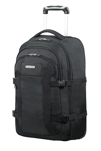 AMERICAN TOURISTER Road Quest - Wheeled Laptop Backpack 15.6' Mochila Tipo Casual, 53 cm, 35 Liters, Negro (Solid Black)