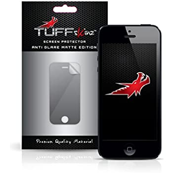 TUFFskinz iPhone 5S / iPhone 5C / iPhone 5 Premium Quality Screen Protectors : Anti Glare Matte edition Anti finger print (2 in Pack - Front)